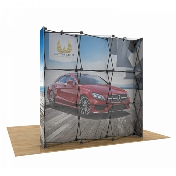 Fabric pop-up display frame