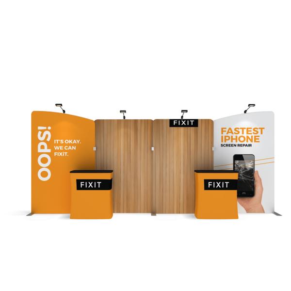 stretch fabric trade show displays