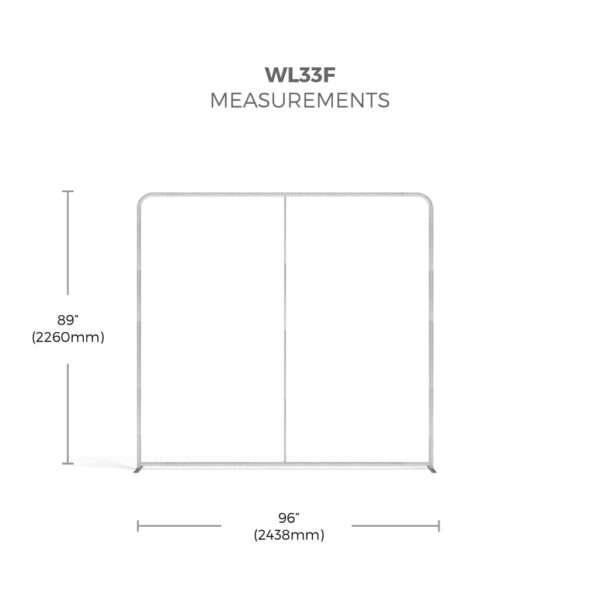 WaveLine Display straight frame