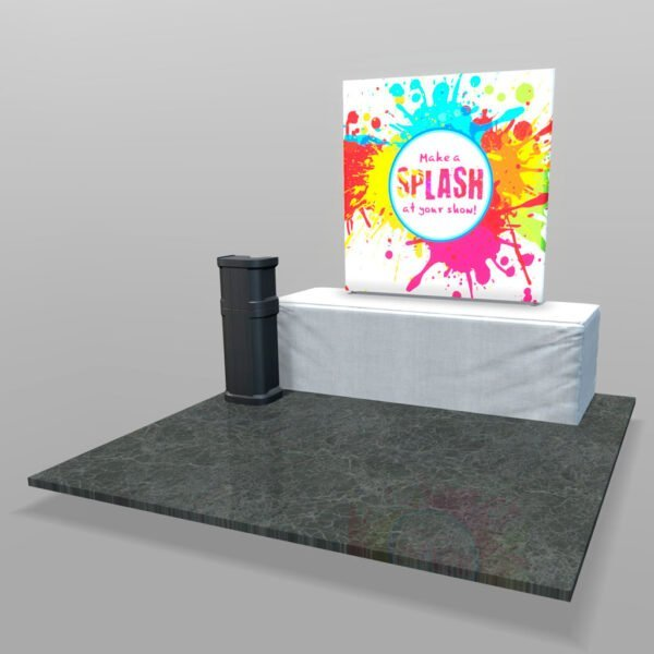 Backlit table-top trade show display